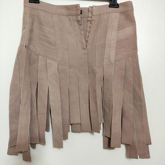 huge discount 2c401 796c6 100% Cotton Plein Sud VTG Fringe Mini Skirt size S